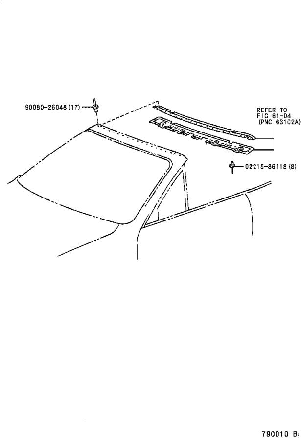 Toyota Paseo Cover sub-assembly, tonneau. Body, interior