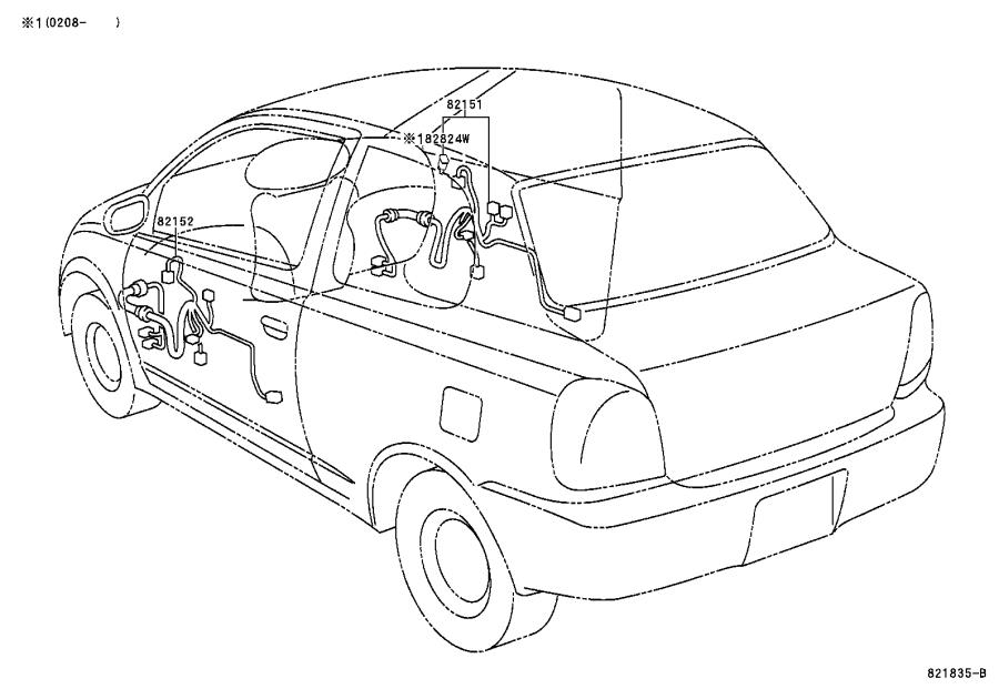 Toyota Echo Wire, engine. Mtm, electrical, wiring