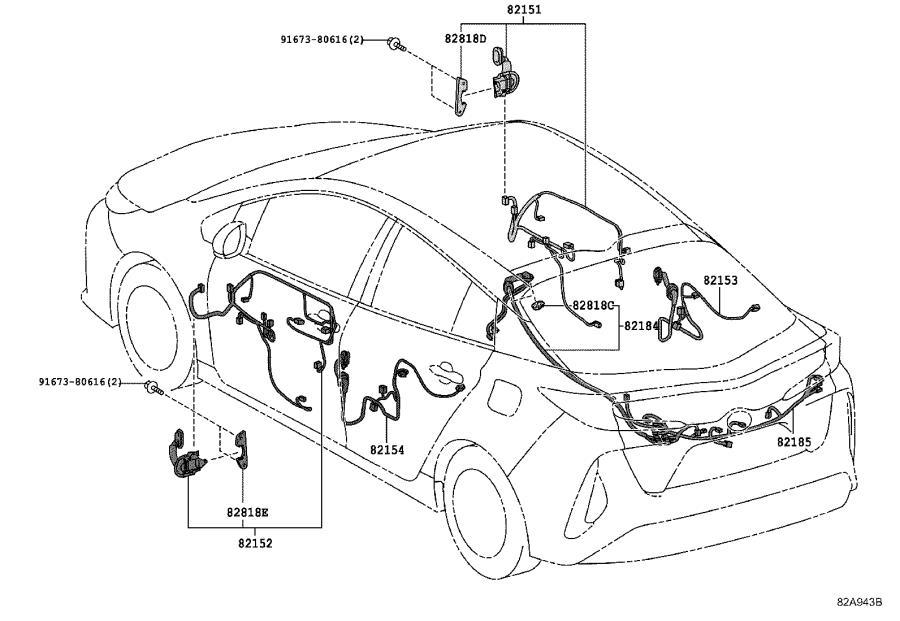 Toyota Prius Prime Wire, engine. Wiring, electrical, clamp