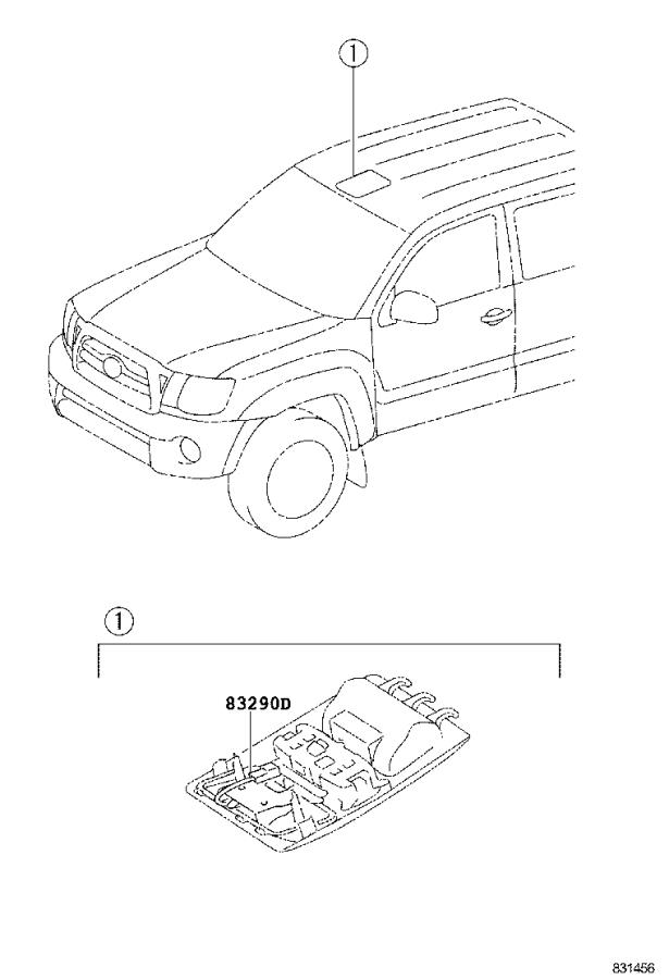 Toyota Tacoma Meter assembly, combination. Package, spec