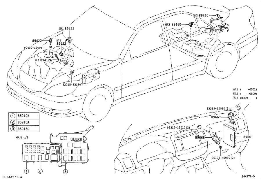Toyota Camry Engine Control Module. Electrical, System