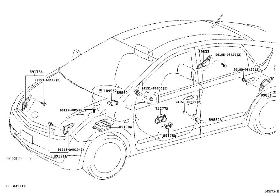 Toyota Prius Computer assembly, air bag. Electrical