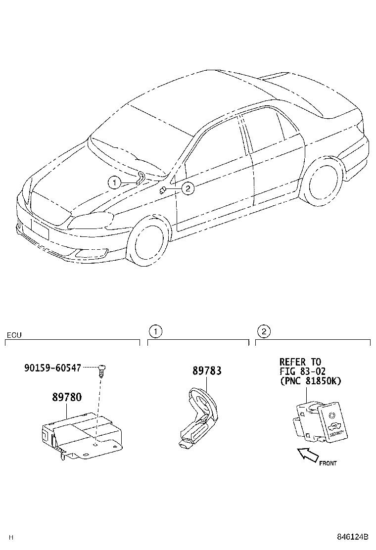 Toyota Corolla Computer assembly, transponder key