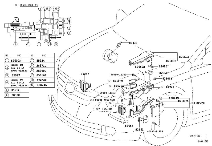 Toyota Avalon Fuse Box. Electrical, Component, Fuses