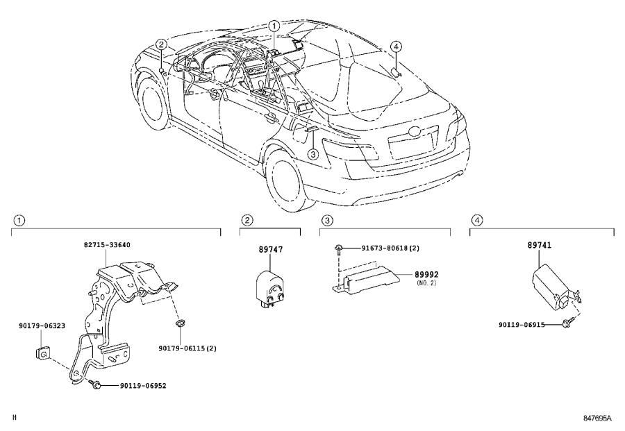 Toyota Camry Harness, electrical key wire, no. 2. System