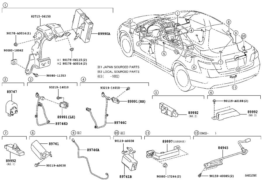 Toyota Camry Computer assembly, smart key. Electrical