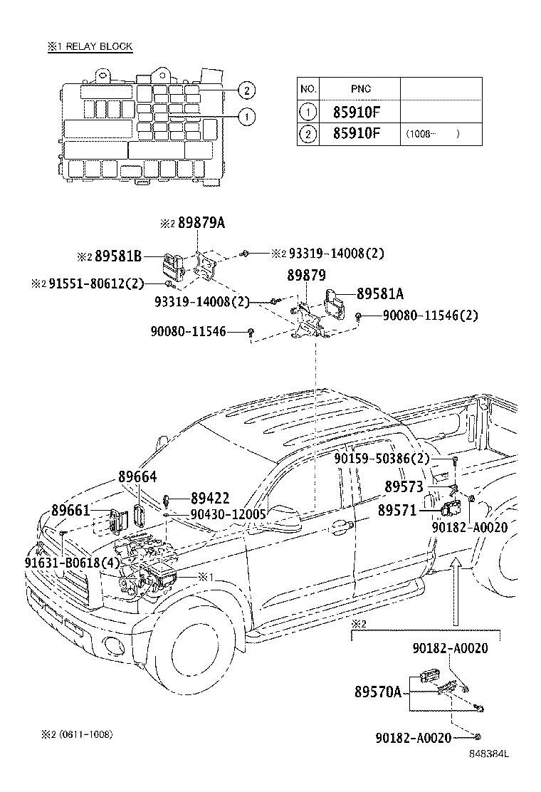 Toyota Tundra Computer assembly, fuel pump control