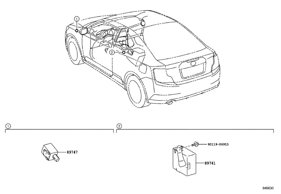 Scion TC Antenna assembly, indoor electrical key, no. 1