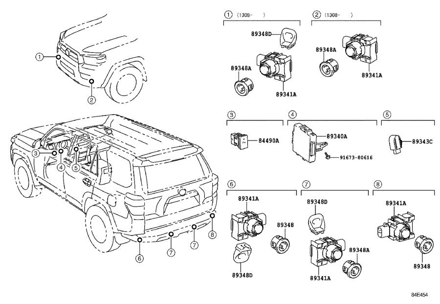 Toyota 4Runner Computer assembly, clearance warning