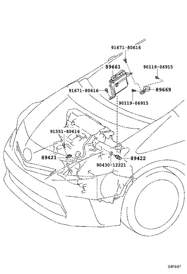 Toyota Prius v Engine Control Module. Electrical, System