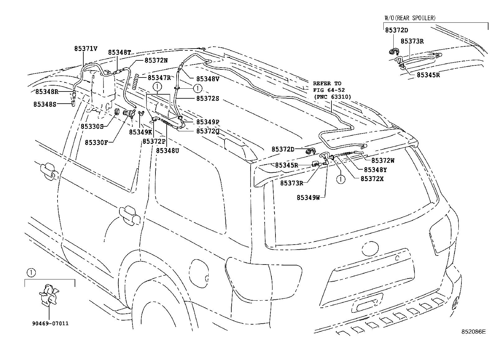 Toyota Sequoia Motor & pump assembly; motor assembly. Rear