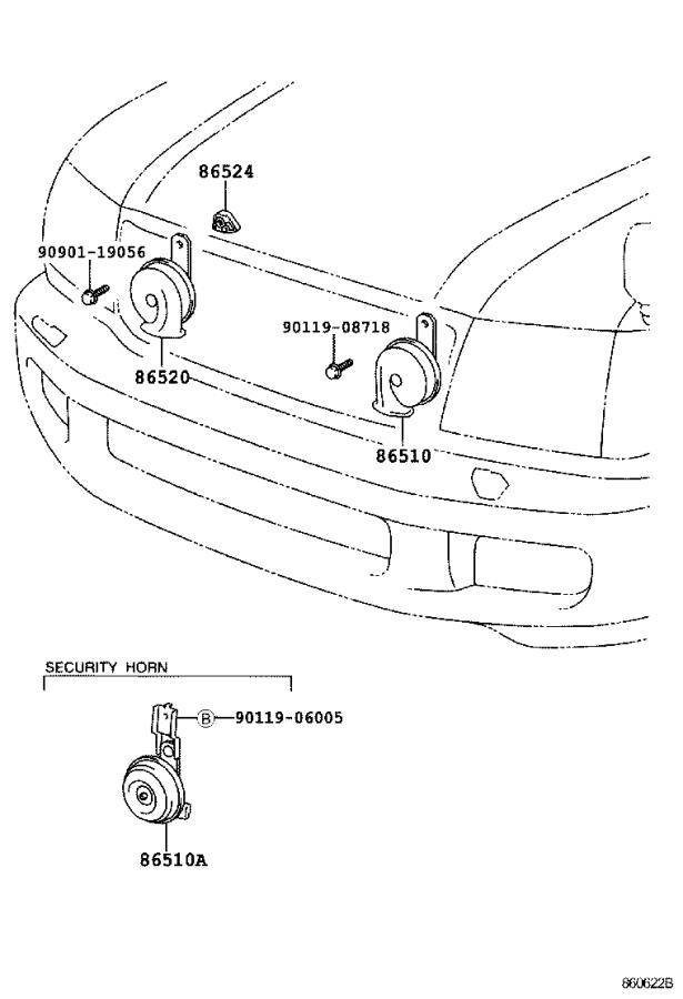 Toyota Land Cruiser Horn. Device, Controlled, Auditory
