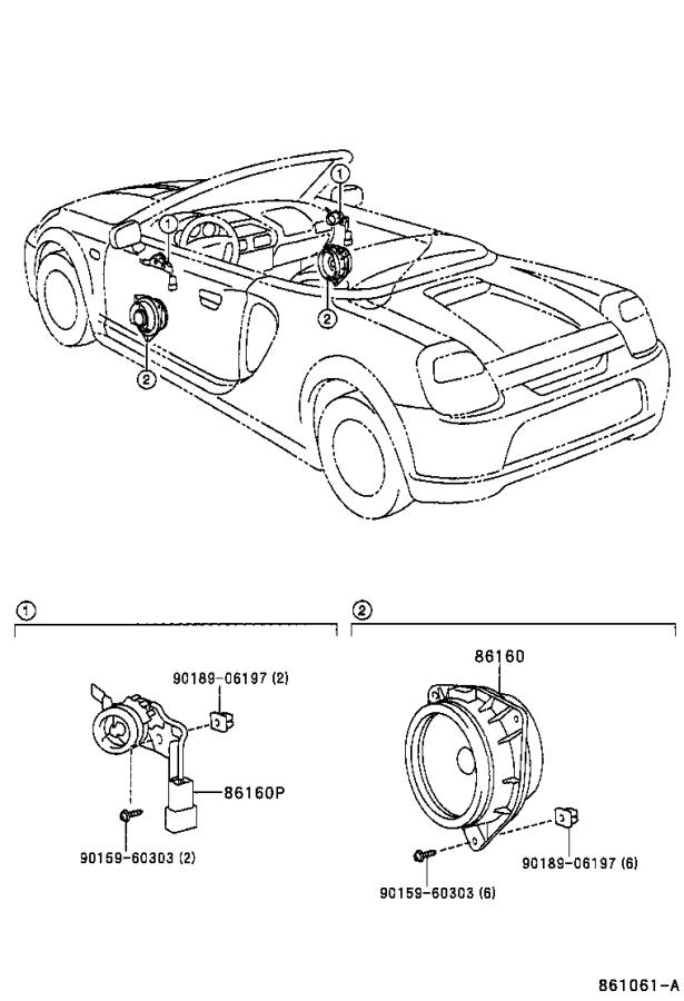 Toyota MR2 Speaker (Front). Emits, Electrical, Device