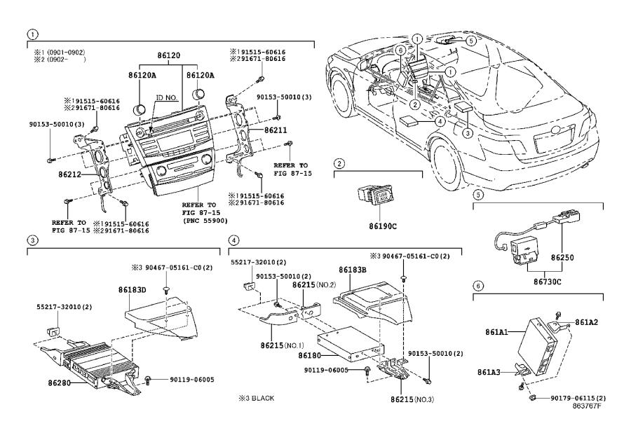 Toyota Camry Condenser. Radio setting. Electrical