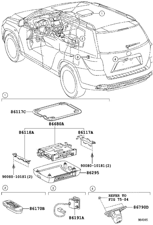 Toyota Highlander Switch & volume assembly; switch and