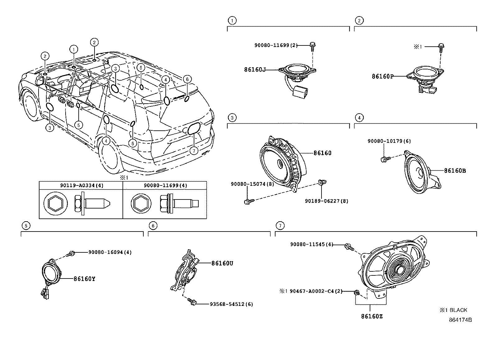 Toyota Sienna Speaker (Front). PIONEER, AUDIO, Electrical