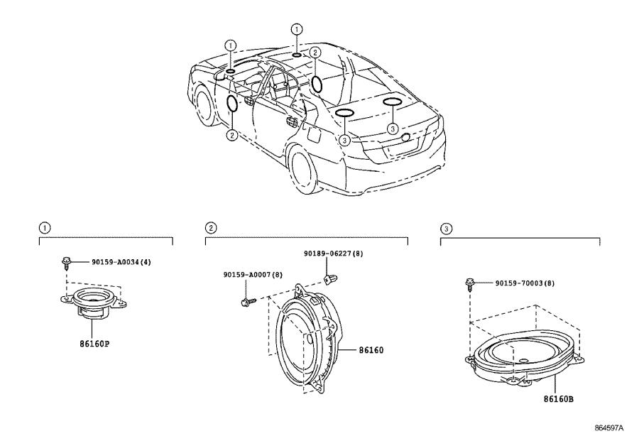 Toyota Camry Speaker (Front). Emits, Electrical, Device