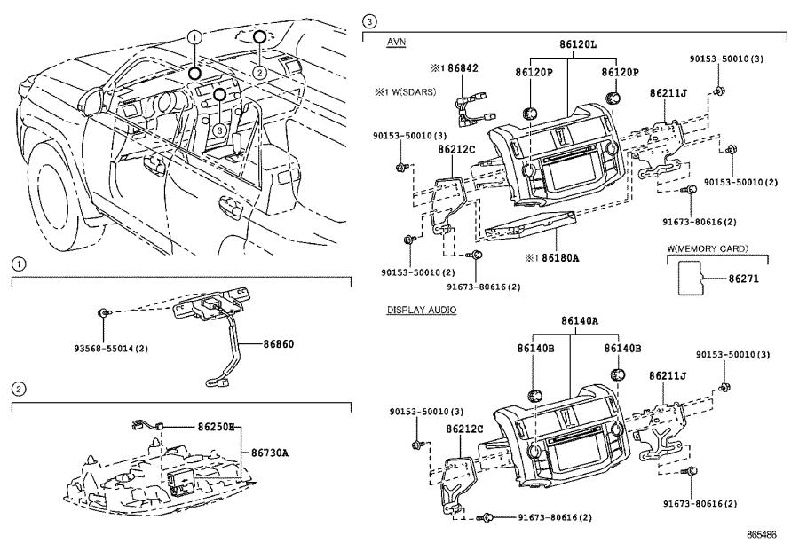Toyota 4Runner Receiver assembly, radio & display