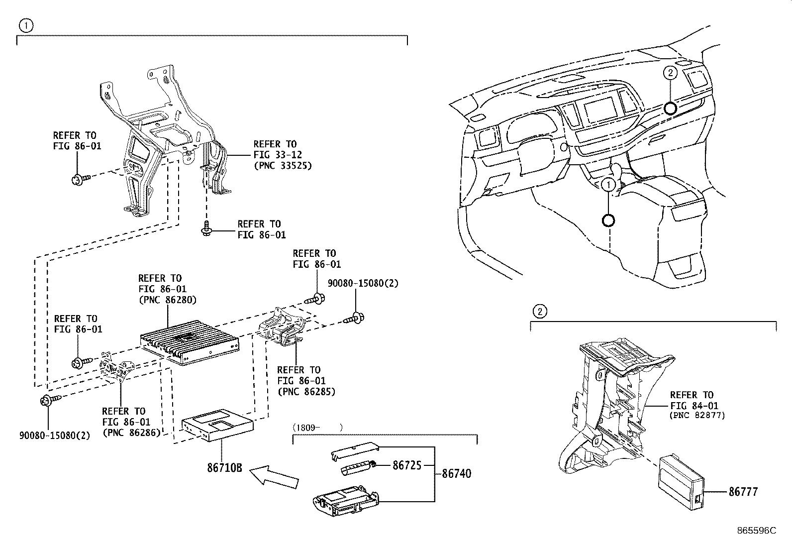 Toyota Highlander Computer Assembly Mayday System Spec