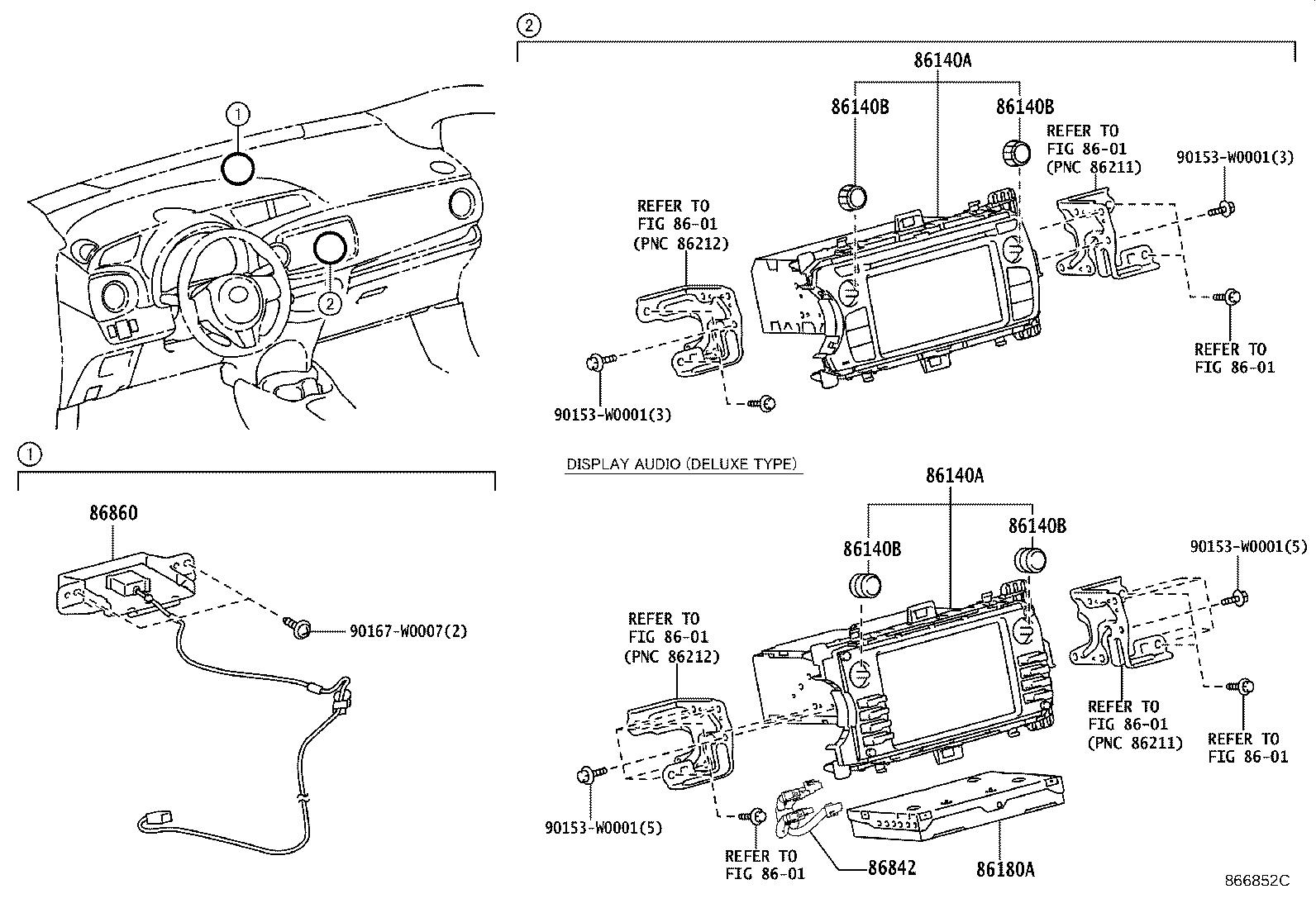 Toyota Yaris Tuner assembly, stereo component. Region