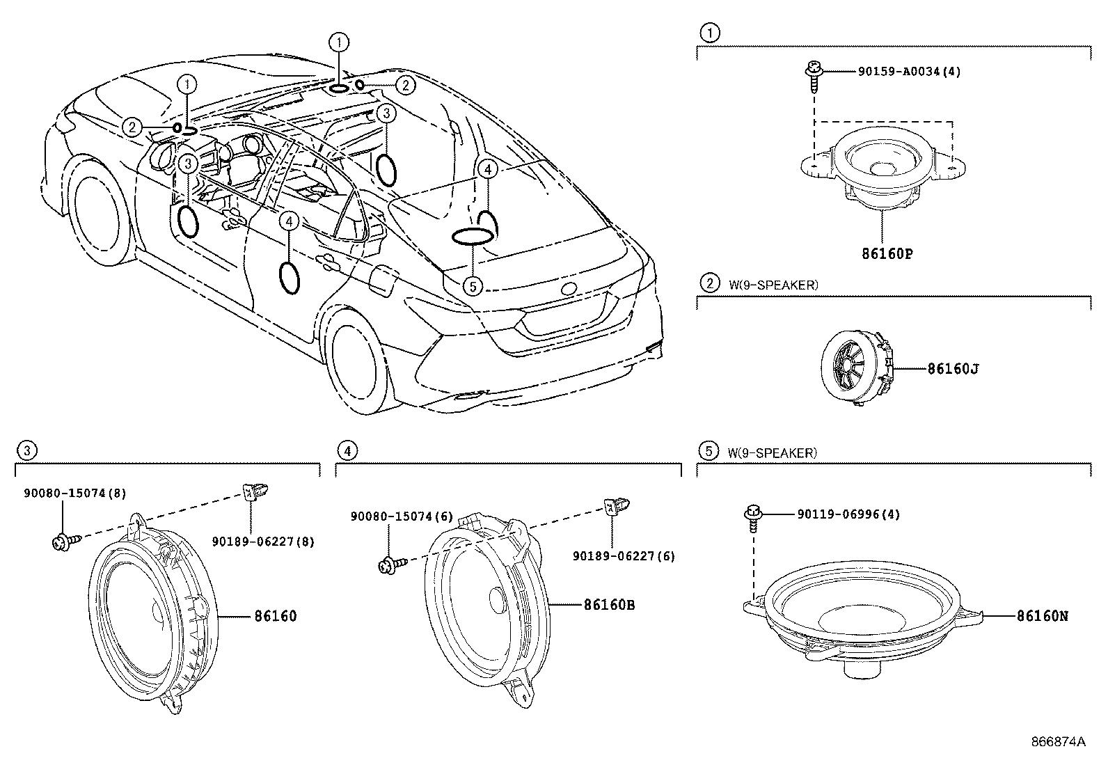 Toyota Camry Speaker Front Electrical