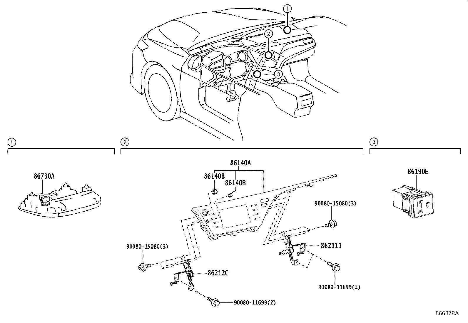Toyota Camry Receiver assembly, radio & display