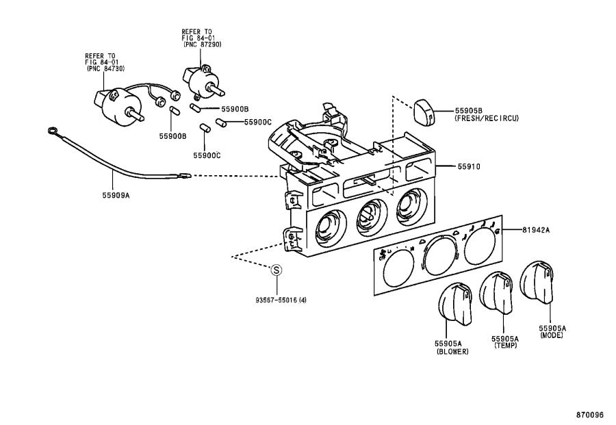 Toyota Camry Control sub-assembly, heater. Air