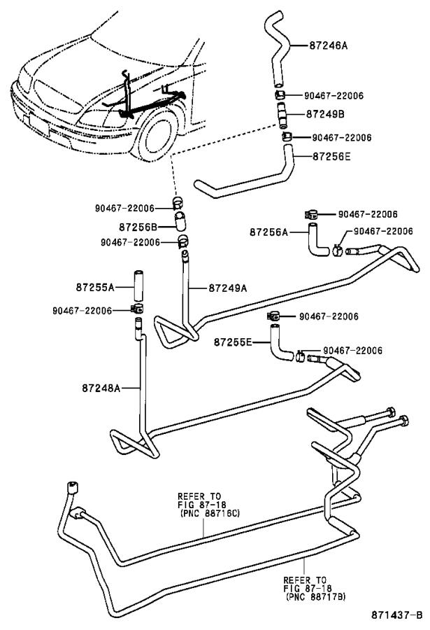 Toyota Sienna Hose, heater water, outlet a. Air