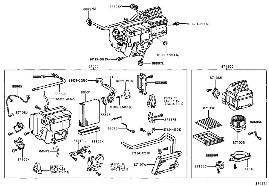 Toyota Prius Harness sub-assembly, cooler wiring, no. 1