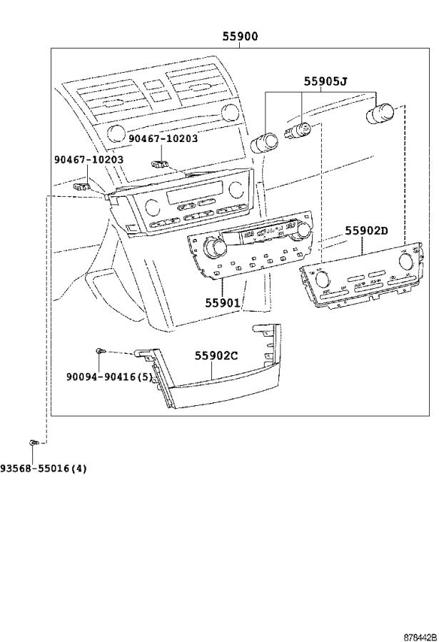 Toyota Camry Duct, side defroster nozzle, no. 2. Air