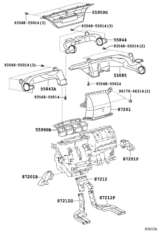 Scion XB Control sub-assembly, heater. Air, conditioning