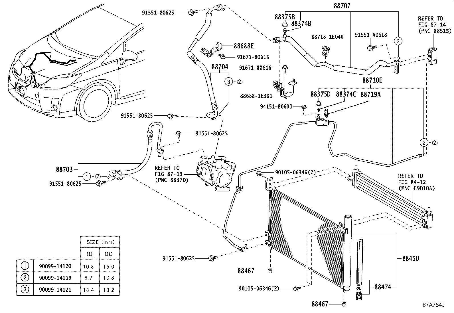Toyota Prius Tube Amp Accessory Assembly Air Conditioner