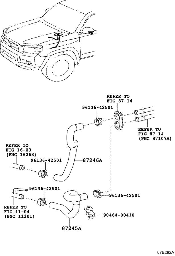 Toyota 4Runner Hose sub-assembly, water. Electrical