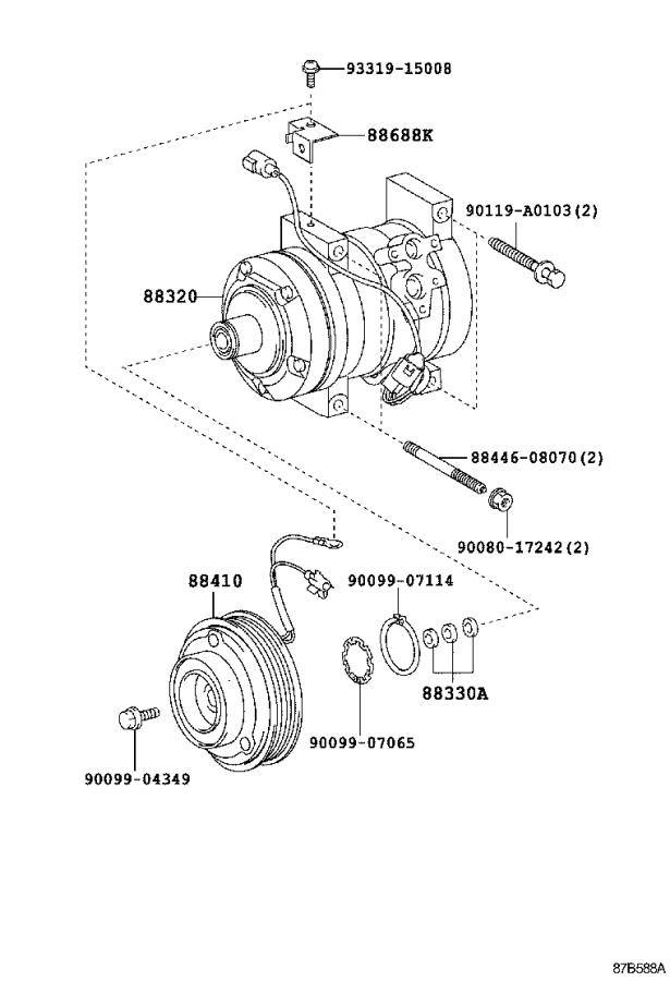 Toyota Tundra Compressor assembly, cooler. Electrical