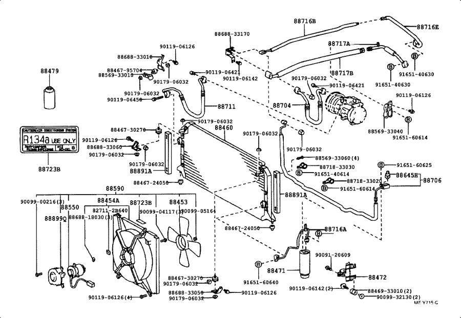 Toyota Camry Pipe sub-assembly, discharge. Conditioning
