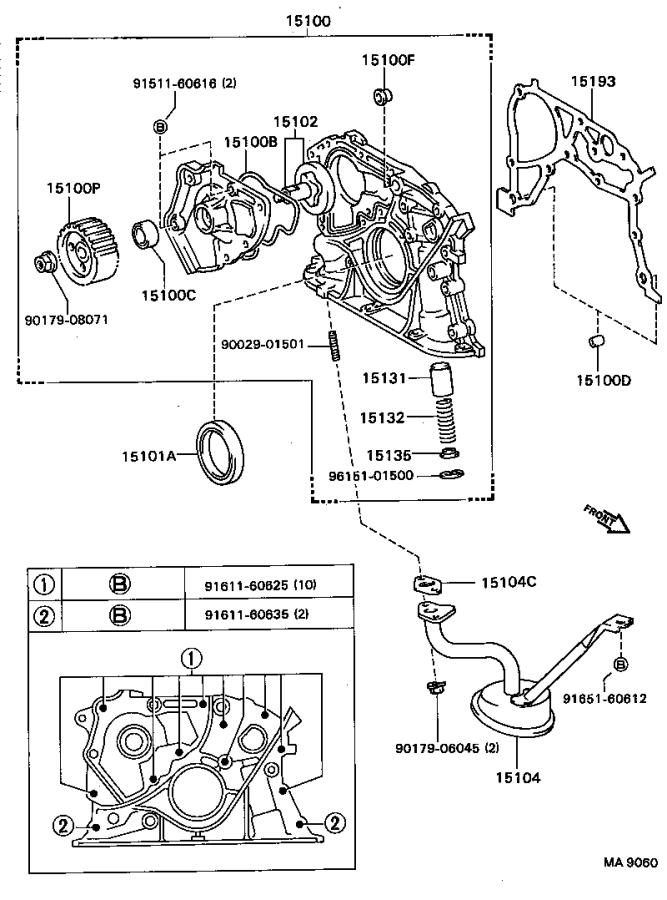 Toyota Celica Engine Oil Pump Rotor. Rotor Set, Oil Pump