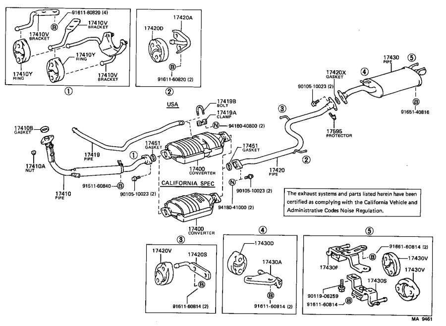 Toyota Corolla Pipe assembly, exhaust, front. Engine