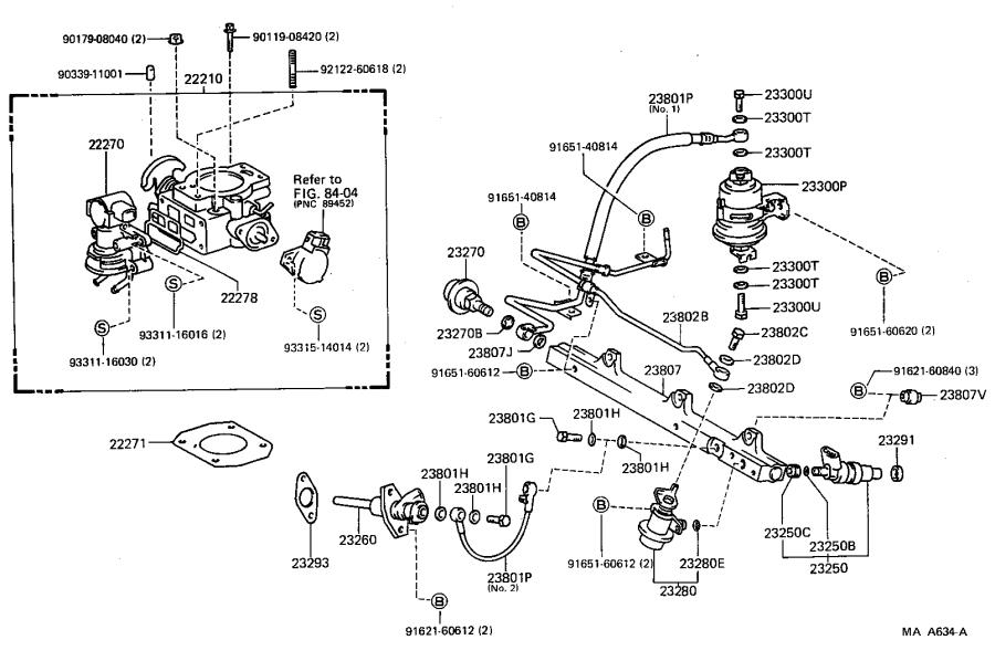 Toyota MR2 Pipe sub-assembly, fuel delivery. System