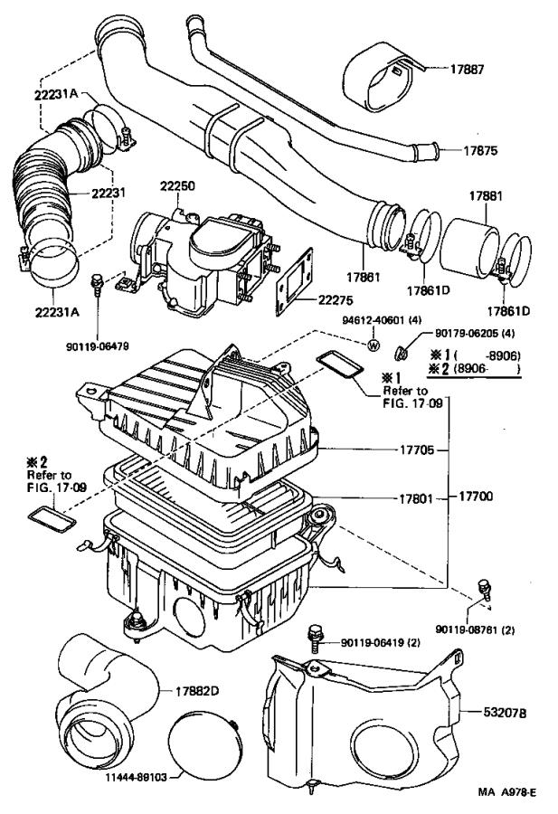Toyota Truck Meter assembly, intake air flow. Engine