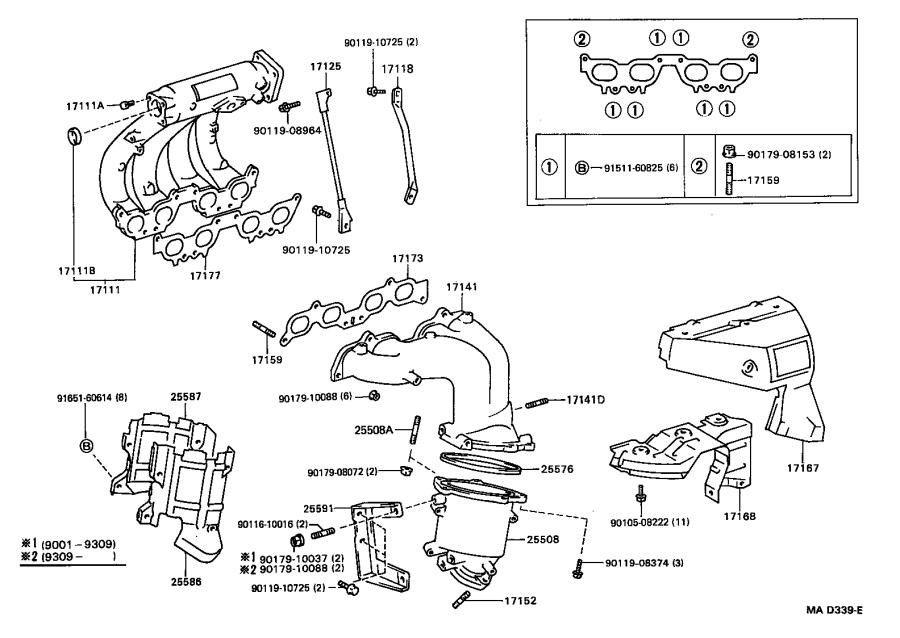 Toyota MR2 Converter sub-assembly, manifold. Exhaust
