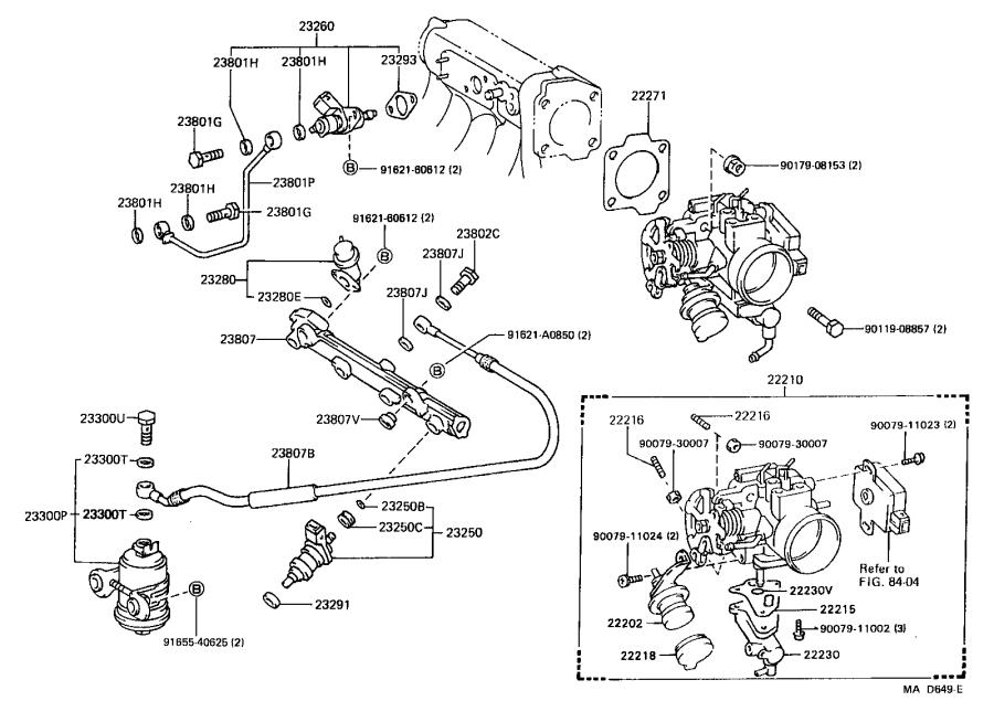 Toyota Corolla Regulator assembly, fuel pressure. System