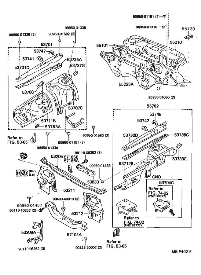 Toyota Cressida Member, front apron to cowl side, lower