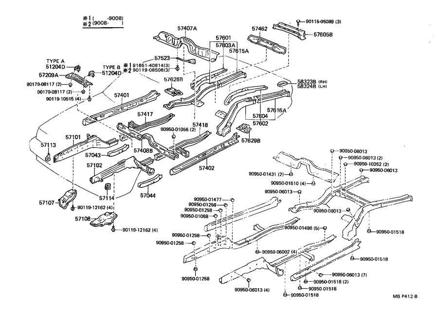 Toyota Cressida Reinforcement sub-assembly, front side