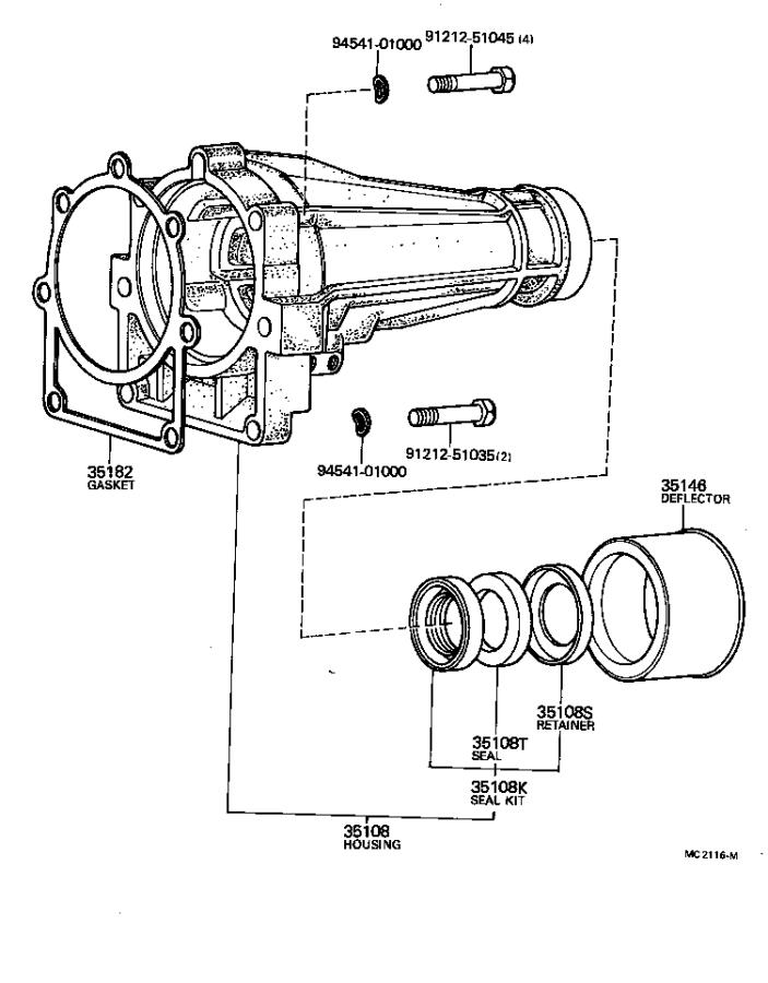 Toyota Corolla Housing sub-assembly, extension (atm