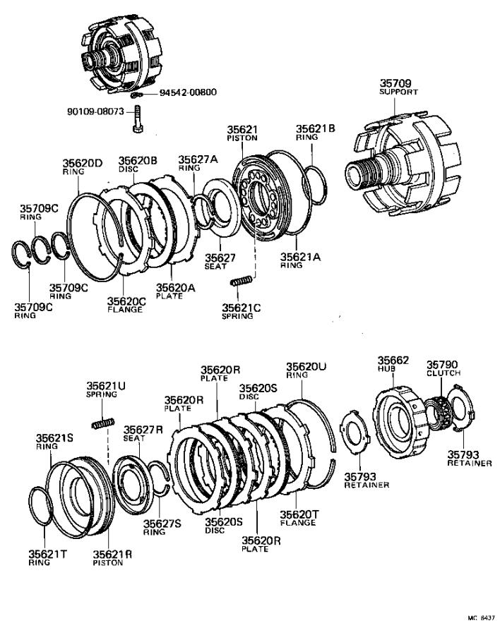 Toyota Tercel Support sub-assembly, center. Transmission