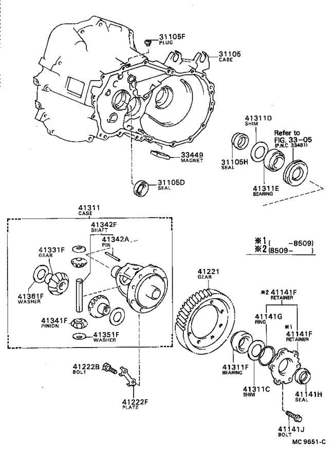 Toyota Celica Cage sub-assembly, differential drive pinion