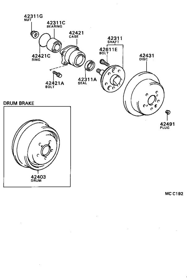 Toyota Celica Cv joint kit (rear). Shaft, drive outboard
