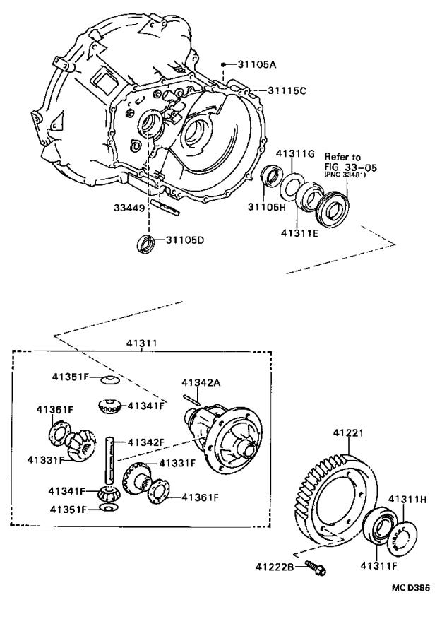 Toyota Tercel Automatic Transmission Differential Bearing