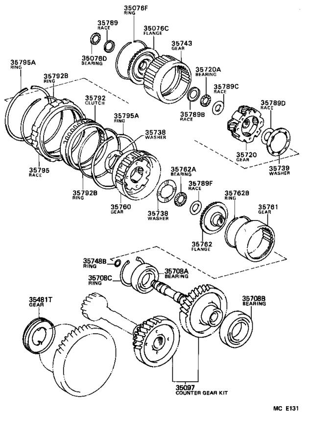 Toyota Corolla Bearing, radial ball (for intermediate