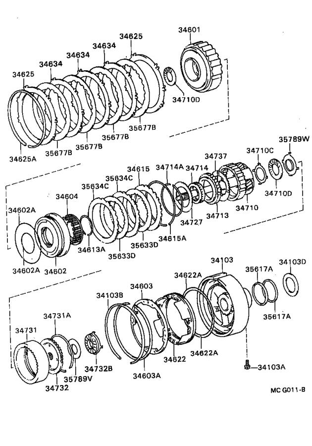 Toyota Cressida Flange, overdrive planetary ring gear